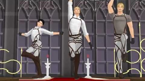 SnK MMD Step (Erwin, Levi, Mike)