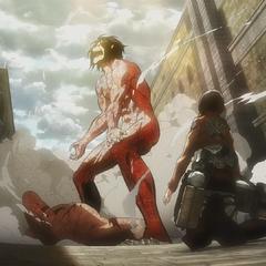 Mikasa observa a Eren.