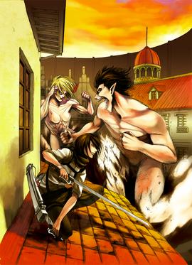The Female Titan battle