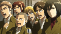 Squad Levi is surprised by Levi's reaction