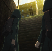 Annie confronted by Armin and co