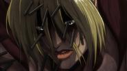Le Titan Féminin criblé de pieux