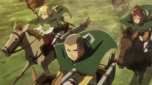 File:Scout Regiment rides to rescue Eren.png