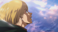 Armin delighted as he rides toward the sea