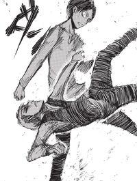 Eren flips Jean
