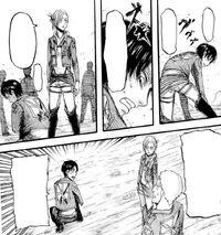 Reiner wants Annie to take the dagger from Eren