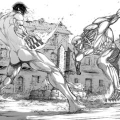 Eren se enfrenta a Reiner de nuevo.