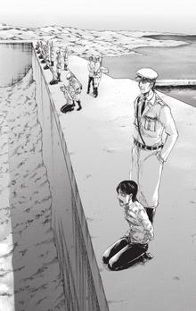 Gefangene auf Mauer
