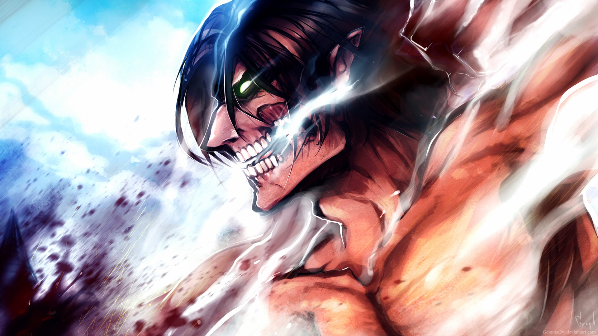 Image rogue titan eren jaeger gemmaqw hd wallpaper 1920x1080g rogue titan eren jaeger gemmaqw hd wallpaper 1920x1080g voltagebd Image collections
