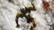 Titan Cuirassé sur le mur rose
