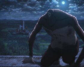 The Beast Titan atop Wall Rose