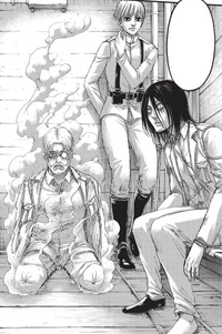 Zeke, Yelena, and Eren on the airship