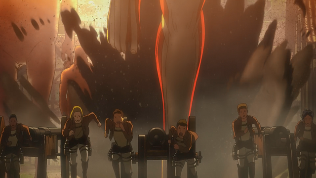 File:The Garrison running from the Armored Titan.png