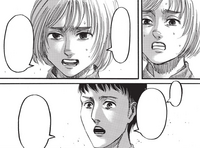 Armin negotiates with Bertolt