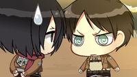 Eren confronts Mikasa