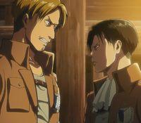 Flagon discute con Levi