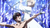 Historia frees Eren from his chains