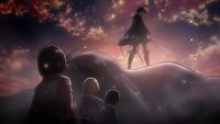 Levi rettet Eren und seine Freunde