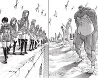 The Survey Corps prepare to face battle