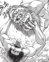 Eren forces the Jaw Titan to break the crystal