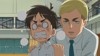 Erwin asks Eren a question