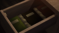 The three books in the basement