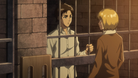Armin informs Eren of his imprisonment