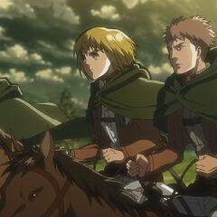 Armin junto a Jean y Reiner.