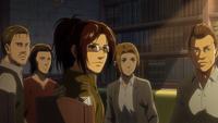 Die Teamleiter des Aufklärungstrupps hören Erwin zu