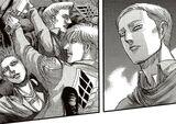 Erwin envisions his fallen comrades anger toward him