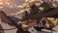 Erwin leading the Titans to Reiner