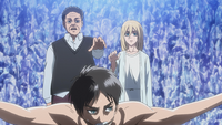 Rod and Historia touch Eren