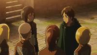 Eren reunites with his friends