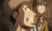 Jean empoignant Eren