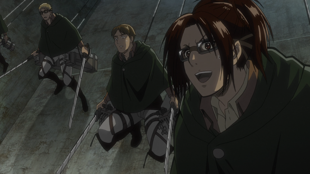 File:Hange watches Mikasa attack the Armored Titan.png