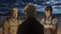 Zeke fordert Reiner und Berthold auf, sich zusammenzureißen