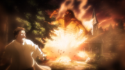 Grisha bursts out of the Underground Chapel after massacring the Reiss family