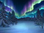 Bg snowfield aurora