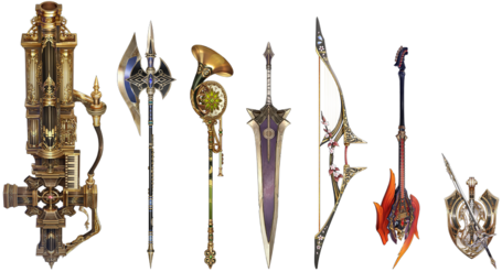 Shining Resonance Weapons Artwork