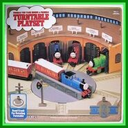 Sts merch ertl goldrail 4718 turntable playset front