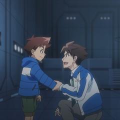 Hokuto gives the Shinca card to Hayato