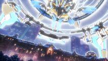 Nahane's spaceship above the Tokyo Station