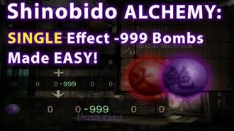 Shinobido Alchemy- Single Effect 999 Negative Spheres Bombs Easy Tutorial