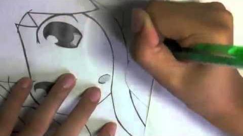 Drawing Squid Girl イカ娘 描いたよ。