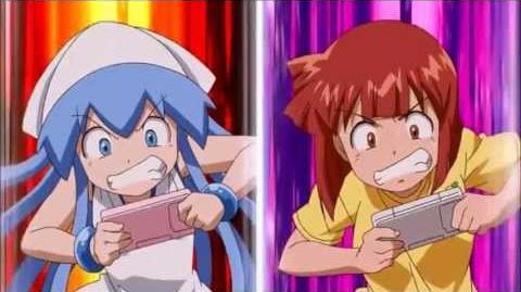Squid Girl OVA 1 scene playin' vidya