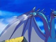 Grandora's ice breath attack