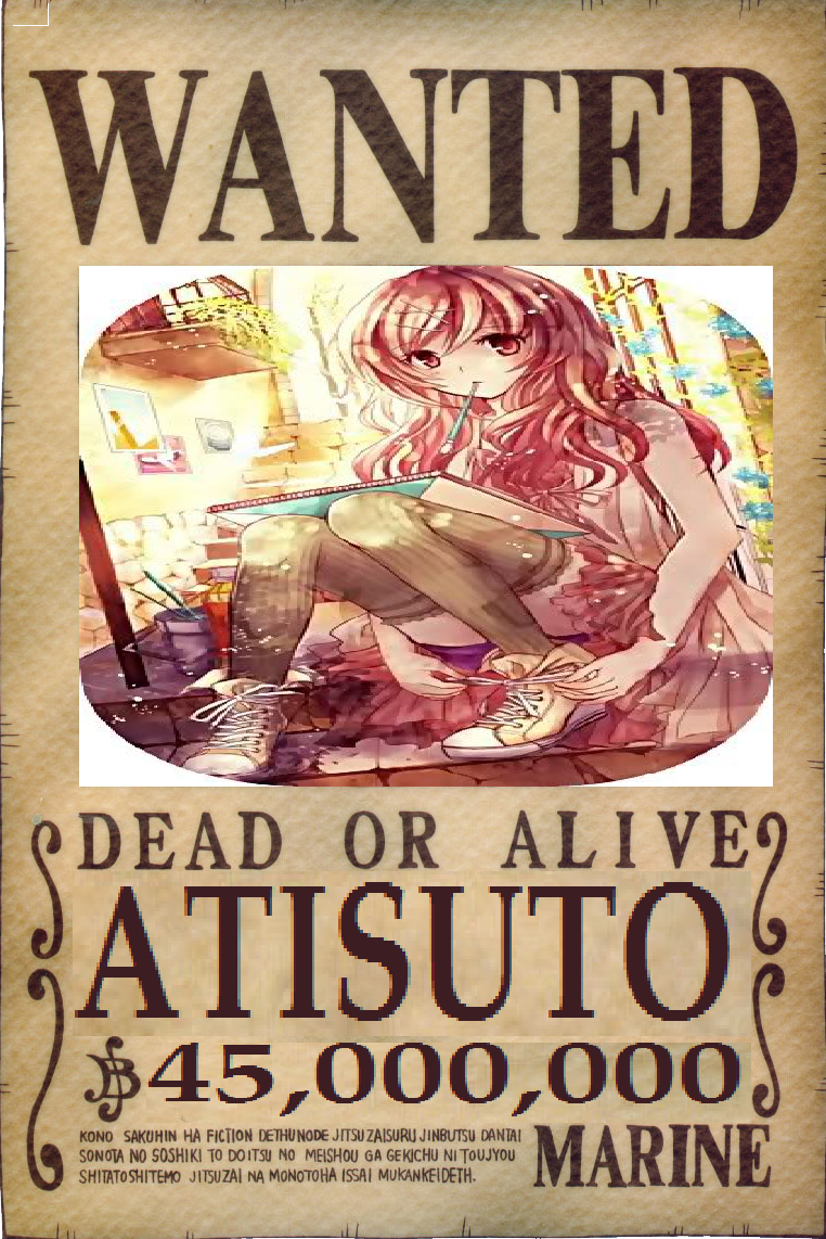 image atisuto s wanted poster png one piece ship of fools wiki