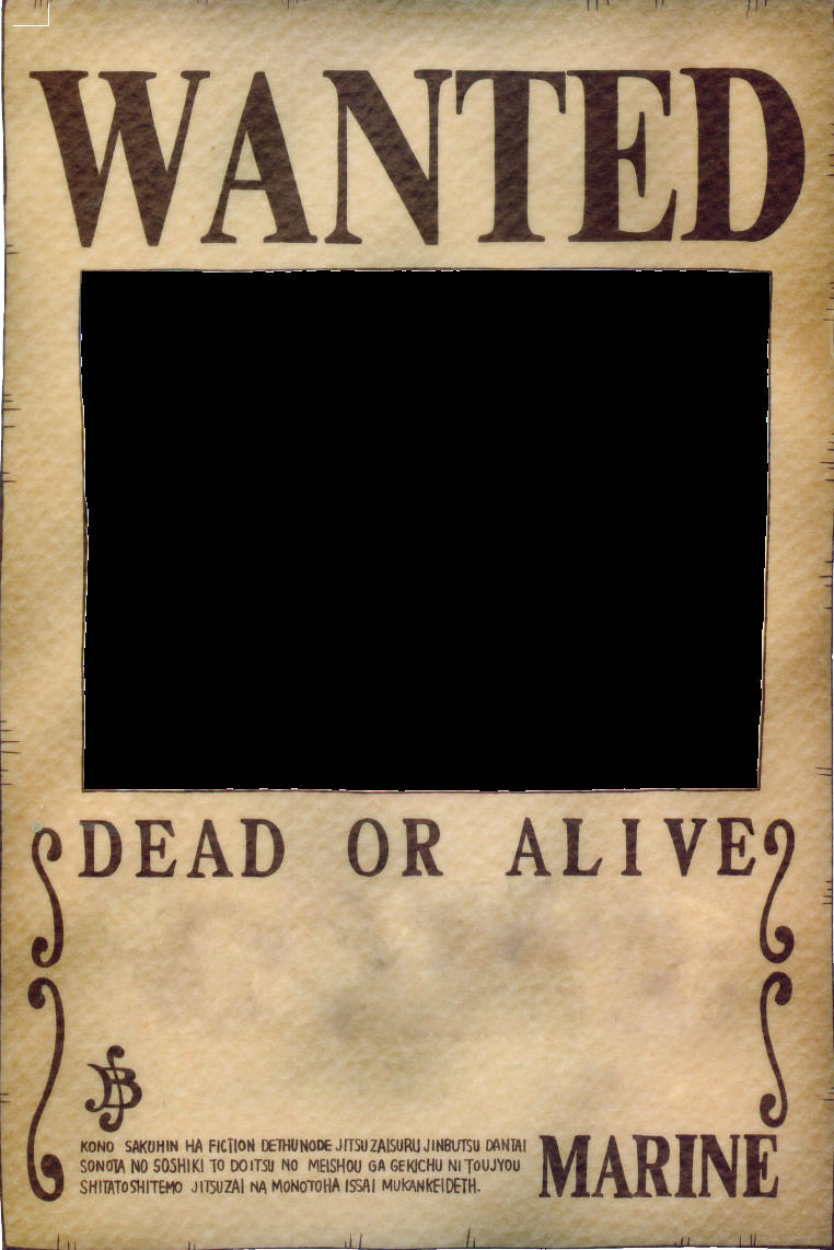 One Piece Wanted Poster Template FREE DOWNLOAD