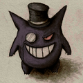 Colored gengar with top hat by artemesis-d45pyop.png