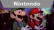 Mario and Luigi at the Nintendo E3 2013 Booth